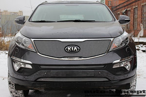 Защита радиатора KIA Sportage 2010-2016 chrome середина