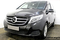 Защита радиатора Mercedes-Benz V-Klass II 2014- black