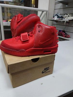 Nike Air Yeezy 2 (Kanye West) кроссовки красные, фото 2