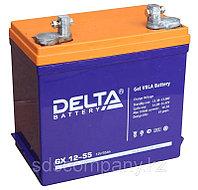 Гелевая аккумуляторная батарея Delta 55 А/ч GX12-55