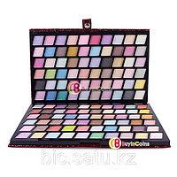 Профессиональная палитра теней 120 цветов с шиммером в кожаном чехле, фото 1