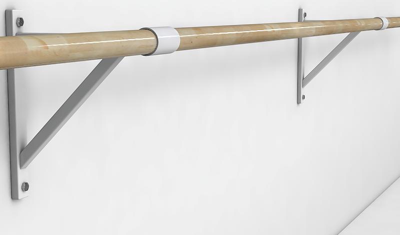 Балетный станок однорядный настенный 1м-1,3м