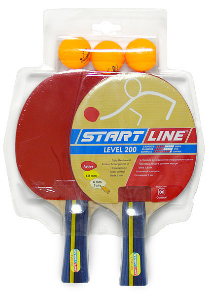 Набор ракетка настольного тенниса Level 200