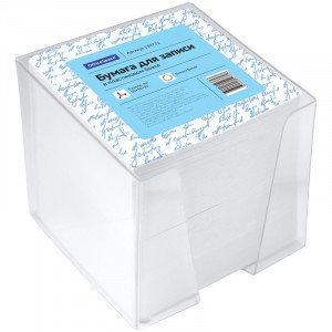 Блок для записи OfficeSpace, 9*9*9см, пластиковый бокс, белый, фото 2
