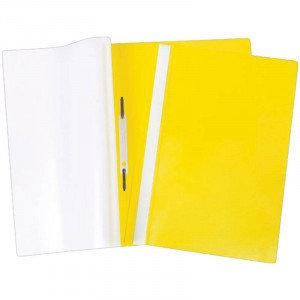 Папка-скоросшиватель пластик. А4 OfficeSpace, 160мкм, желтая с прозр. верхом, фото 2
