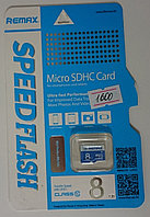 Карты Micro SD  REMAX 8ГБ