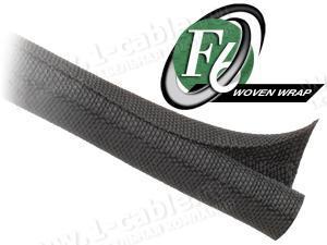 F6W1..BK Самозакрывающаяся оборачиваемая эластичная тканевая кабельная оплетка