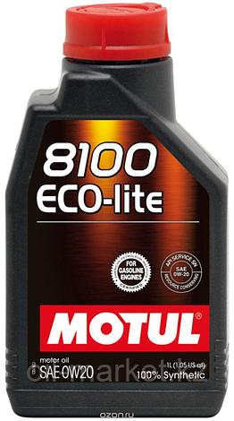 Моторное масло MOTUL 8100 Eco-lite 0W-20 1л, фото 2