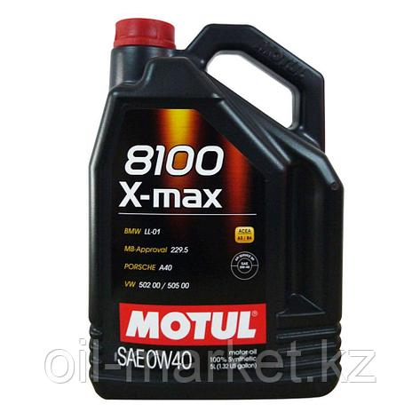 Моторное масло MOTUL 8100 X-max 0W-40 5л, фото 2