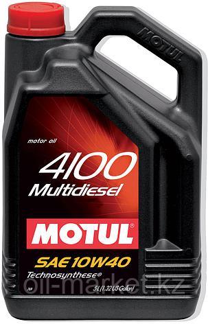 Моторное масло MOTUL 4100 Multi Diesel 10W-40 5л, фото 2