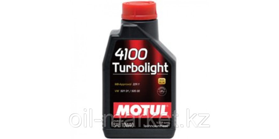 Моторное масло MOTUL 4100 Turbolight 10W-40 1л, фото 2
