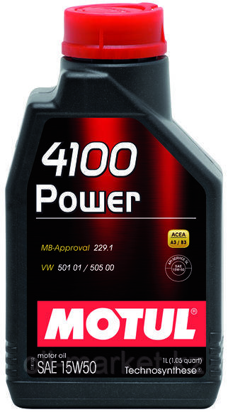 Моторное масло MOTUL 4100 Power 15W-50 1л