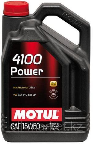 Моторное масло MOTUL 4100 Power 15W-50 4л, фото 2