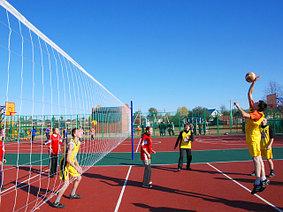 Волейбольные стойки и сетка