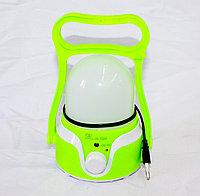 Фонарь кемпинговый аккумуляторный, зеленый