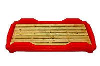 Детская мобильная кроватка, красная