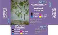 Canon Multipack (PGI-520BK,CLI-521Y/M/C/BK) with chip  for Canon PIXMA iP3600 | iP4600 | iP47