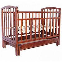 Детская кроватка АГАТ ЗОЛУШКА-4 поперечный маятник Вишня