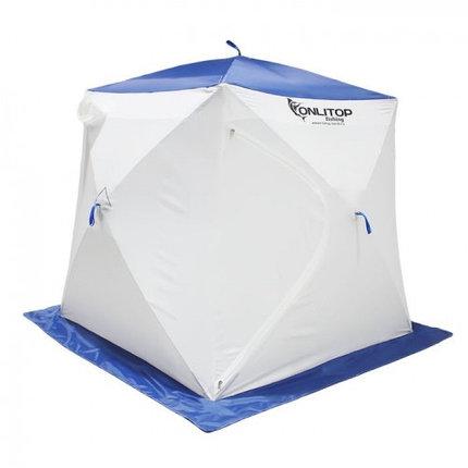 """Палатка """"Призма Стандарт"""" 170, 2-слойная, цвет бело-синий, фото 2"""