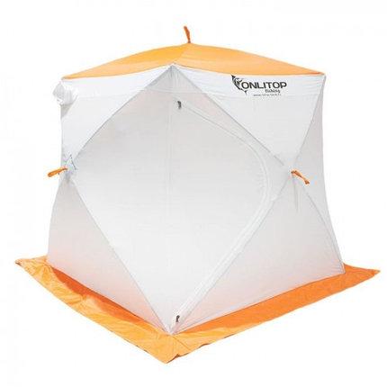 """Палатка """"Призма Стандарт"""" 170, 3-слойная, цвет бело-оранжевый, фото 2"""