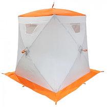"""Палатка """"Призма Люкс"""" 150, 3-слойная, цвет бело-оранжевый, фото 2"""