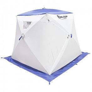 """Палатка """"Призма Люкс"""" 200, 1-слойная, с 1 входом, цвет бело-синий, фото 2"""