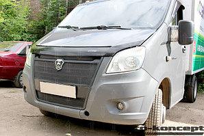 Защита радиатора ГАЗель NEXT 2013- (3 части) black