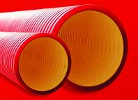 DKC Труба жесткая двустенная для кабельной канализации (12 кПа)д110мм,цвет красный
