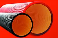 DKC Труба жесткая двустенная для кабельной канализации (8 кПа)д200мм длина 5,70м. ,цвет черный, фото 1