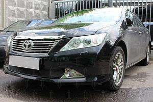 Защита радиатора Toyota Camry XV50 2011-2014 black OPTIMAL