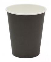 Стакан бумажный Черный для гор. напитков, 250мл