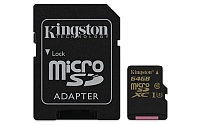 Карта памяти MicroSD 64GB Class 10 U3 Kingston SDCG/64GB