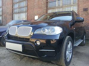 Защита радиатора BMW X6 2008-2014- (3D)/BMW X5 E70 2006-2013 (3D) chrome PREMIUM