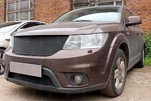 Защита радиатора Fiat Freemont 2013- black низ PREMIUM
