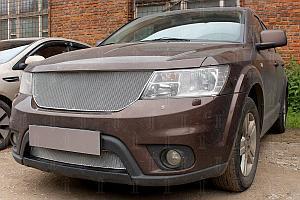 Защита радиатора Fiat Freemont 2013- chrome верх PREMIUM (устанавливается вместо штатной)