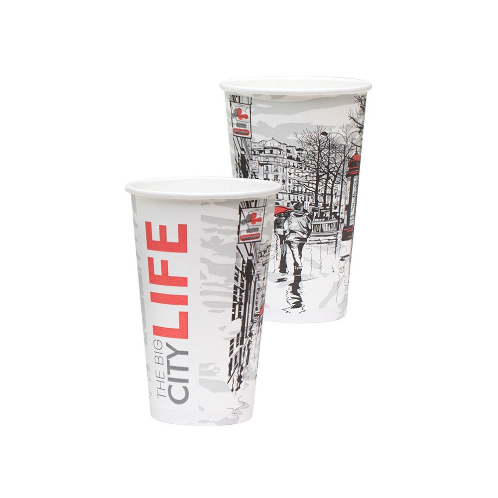 Стакан бумажный Big City Life для гор. напитков, 400мл