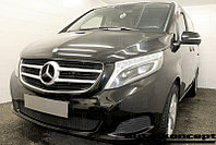 Защита радиатора Mercedes-Benz V-Klass II 2014- black PREMIUM