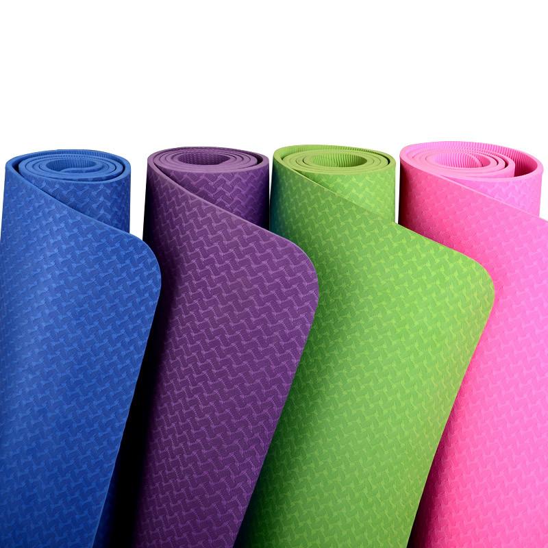 Коврики для йоги (61х183х0.6 см) TPE, с чехлом - «Vitmart.me» ИНТЕРНЕТ МАГАЗИН в Алматы