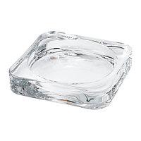 Тарелка для свечи Гласиг, прозрачное стекло
