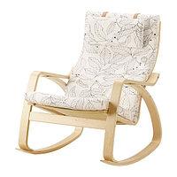 Кресло-качалка ПОЭНГ березовый шпон ИКЕА, IKEA , фото 1