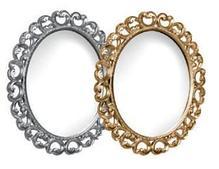 "Тумба под раковину ""Искушение"" 85 см (белая,декор серебро). Настенное зеркало.Шкаф. , фото 2"
