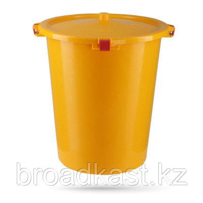 Контейнер с фиксатором крышки для сбора и хранения мед отходов 35/50 / 65 литров
