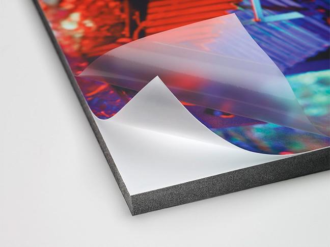 Бэклит пластик PVC с серой подложкой 125 PET-G для сольвентной печати (0,914м х 30м)