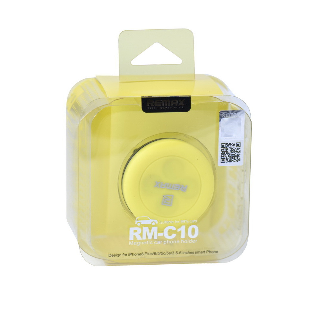 Автодержатель Remax RM-C10 Magnetic Yellow/Black