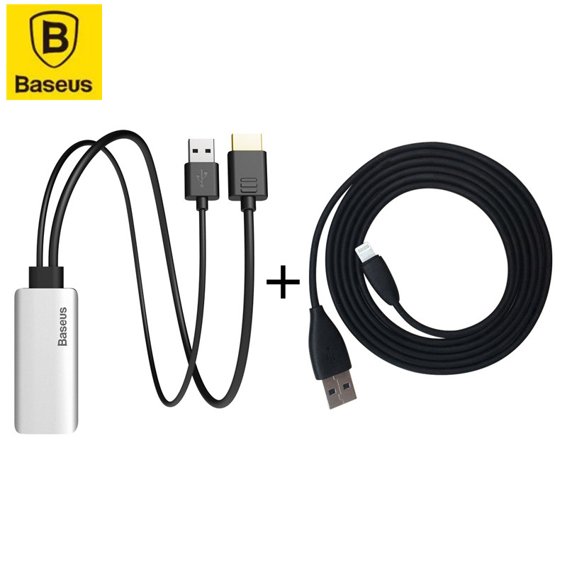 HDMI конвертер For Lightning Baseus Share HD NGLA-OS 1.5m Black
