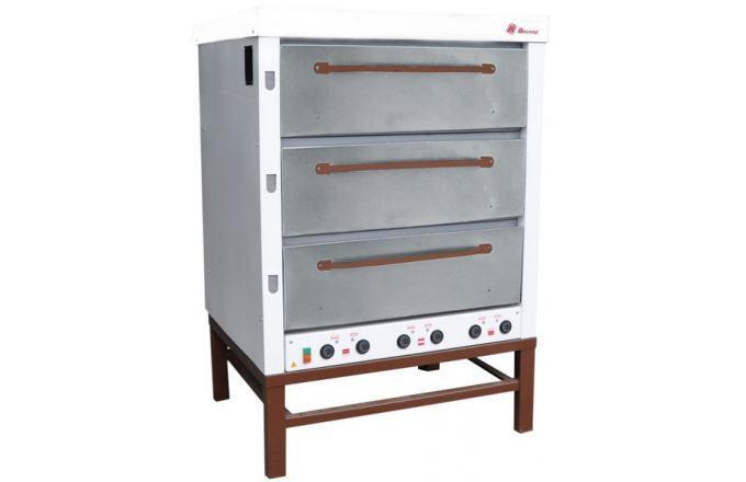 Хлебопекарная ярусная печь ХПЭ-500 (оцинковка).