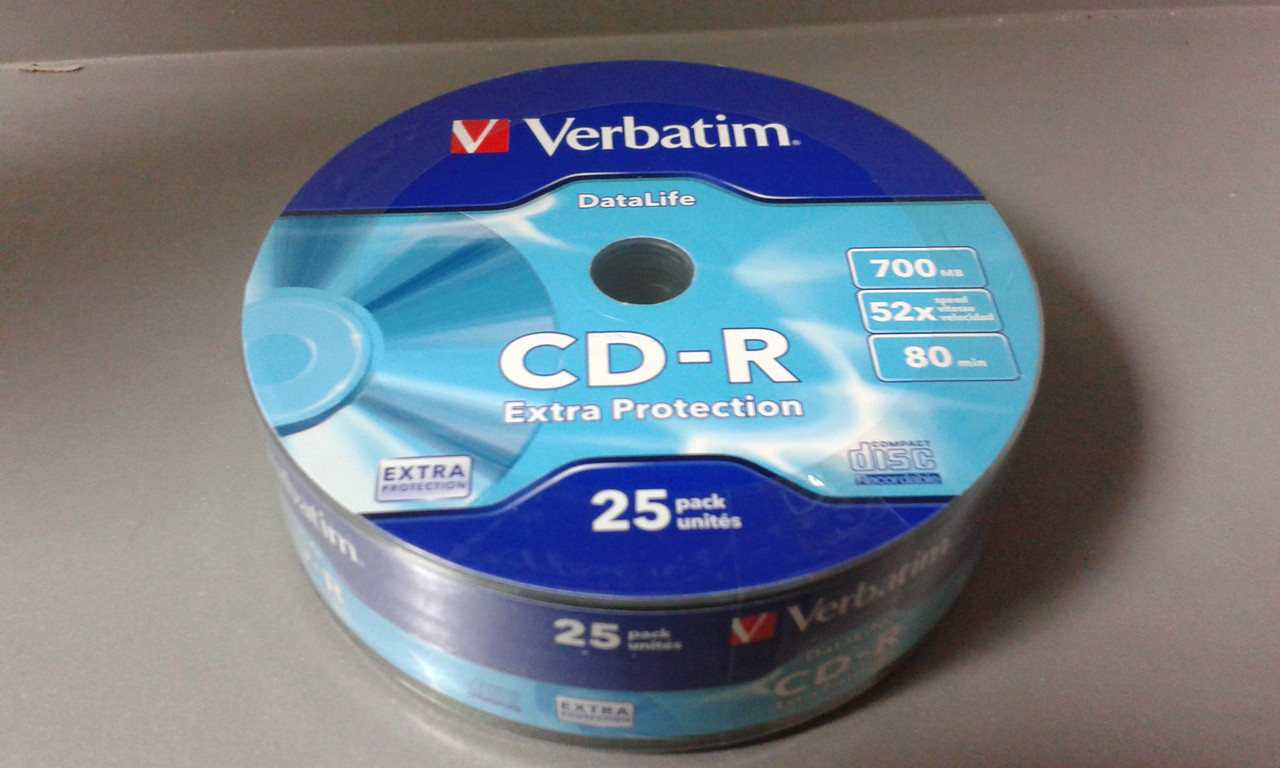 Диски CD-R  SP-025 Verbatim