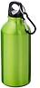 Бутылка для питья с карабином цвет: зеленый. Поворотная крышка. 350мл