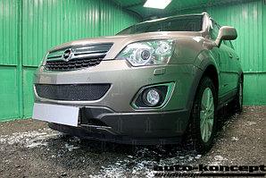 Защита радиатора Opel Antara I (рестайлинг) 2012- black низ PREMIUM