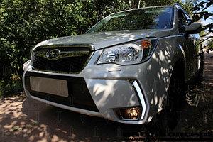 Защита радиатора Subaru Forester IV (US Version) 2013-2016 black низ PREMIUM